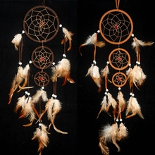 Mysterious Dream Catcher Color Wall Hanging Decor Ornament Feather Long Chic Hot()