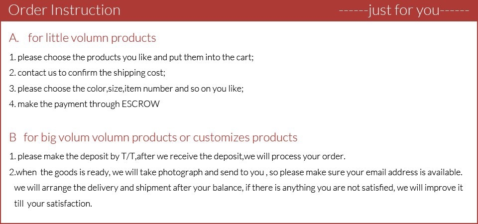 order instruction