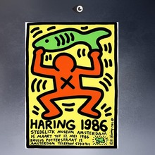 Keith HARING  1986 Original Pop ART  GICLEE  poster oil painting print on canvas