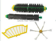 New Flexible Beater Bristle Side Brush Filter Mini Kit 6 Armed for iRobot Roomba 500 Series Free Shipping(China)