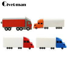 Hot bizarrerie large truck pendrive autotruck usb flash drive truck pen drive u disk 4GB 8GB 16GB 32GB flash memory sticks(China)