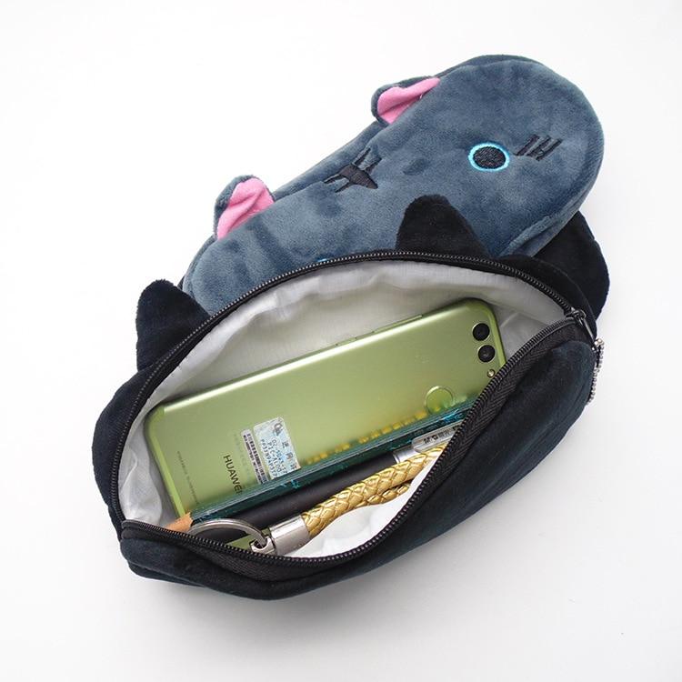 Plush Pencil Case School Supplies For Girls Stationery Office Cute Kawaii Cartoon Cat Pen Bag pouch kits Kids Gift Makeup bag (5)