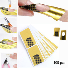Heonyirry 100 Pcs Gel Extension Sticker Nail Art Professional Acrylic Forms