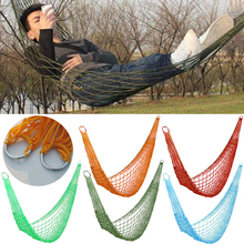 Mayitr High Quality Outdoor Nylon Hammock Mesh Net Hang Rope Single Sleeping Bags Travel Camping Garden Swing Fit All Season