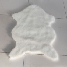 faux wool sheepskin plush carpet living room sofa tea table decoration pad bedroom rug t hallway stairs carpet mat white(China)