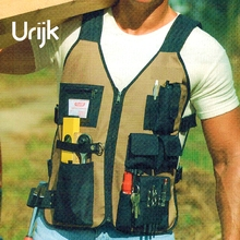 Urijk Oxford Vest Gardening Work Apron Tool Bag Cleaning Hand Tools Screwdriver Pliers Scissors Knife Wearable Multifunction