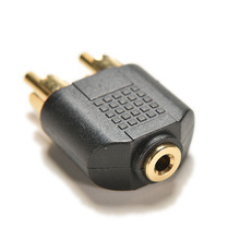 1PC Gold Plated 3.5mm Audio Stereo Jack Female To 2 RCA Male Audio Jack Connector Adapter Converter for Speaker Power Amplifier