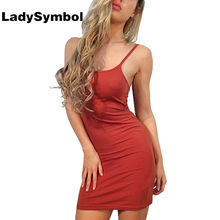 Buy LadySymbol Shoulder Knitted Sexy Dress Women Summer 2017 Backless Slim Casual Club Bodycon Dress Elegant Short Party Dresses for $15.98 in AliExpress store