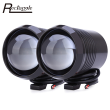 2 Pcs U2 1200LM 30W Upper Low Flash Motorcycle Headlight High Brightness LED Motorbike Fog Lamp Spot Light(China)