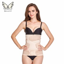 Waist trainer 3Pieces/Set Maternity Postnatal Belt After Pregnancy bandage Belly Band waist corset Pregnant Women Slim Shapers(China)
