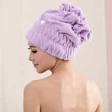 Lovely Style Rabbit Lace Microfiber Soft Hair Fast Drying Wrap Cap Hat Super Magic Absorbing Water