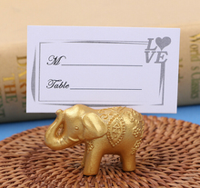 new factory direct supply  Wedding gifts wedding supplies furnished little silver elephant  place card holder