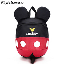 Cute Minnie Mickey Children Cartoon School Backpack For 0-3 years old Boys And Girls Anti-lost Lovely Cartoon Schoolbag MAQ01