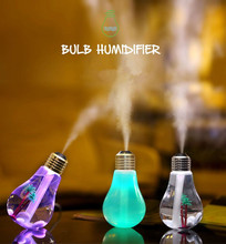 Freeshipping 400ml led bulb humidifier usb air humidifier air purifier dry skin care device small home appliance