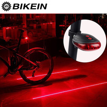 BIKEIN Road Bicycle LED Light 2 Lasers Safety Night Riding Lights MTB Bike Rear Lights Lamp Warning Backlight 7 Mode Taillight(China)