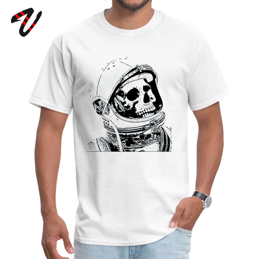 Death On Mars Top T-shirts for Men Customized Summer/Autumn Tops & Tees Short Sleeve Funky Tops Tees Crewneck Cotton Fabric Death On Mars 8712 white