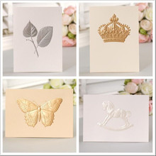 8 sets of Exquisite Embossed Business Greeting Card - Vintage Crown,Dove,Key,Feather,Butterfly,Thank You