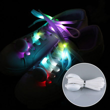 1 Pair Light Up Shoelaces LED Laces Multi-color Flashing Nylon Shoestrings(China)