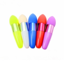 European American popular 3D oblique head bullet sponge brush,sponge facial makeup flawless beauty cosmetic puff makeup sponges.(China)