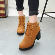 High Quality Women Boots Winter Casual Brand Warm Shoes Boots Leather Fashion Boots Buckle Round Toe Shoes Woman