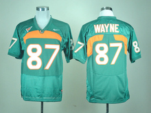 Nike Men's Miami Hurricanes Reggie Wayne 87 Orange College Ice Hockey Jerseys GREEN M,L,XL,XXL,3XL(China)