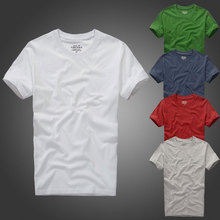 Summer Men's Famous brand Design crop top camisetas cotton Hollistic Abercr fitness men t-shirt Casual fitch Short Sleeve Tees(China)