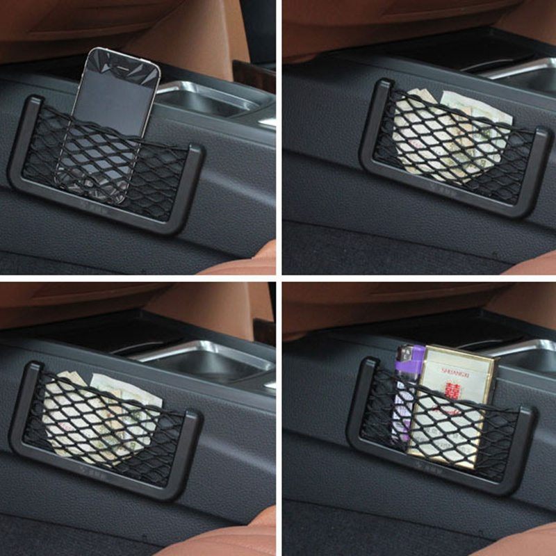 MAYITR Multifunction Elastic Net Car Storage String Mesh Bag For Cell Phone Medium Designed Gadget Cigarette Pocket 20*8CM