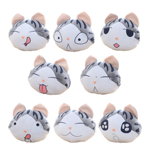 1pcs 37*33cm chi`s sweet home cheese cat pillow of small, private, sweet cat/rice ball stuffed cat pillow cushion for leaning(China)