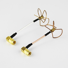 5.8 GHz FPV Straight Shape L Type Inner Needle / inner Hole Cloverleaf 5.8Ghz Antennas Set For RC Helicopter High Quality