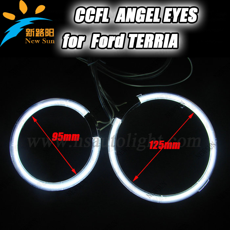 4 rings 95mm&amp;125mm ccfl angel eyes ring for car projector lens 8000k high brightness head light ccfl angel eyes for Ford Terria<br><br>Aliexpress