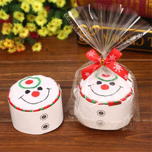 Creative Christmas Tree Snowman Santa Towel small water absorption Towel gift cakes Towels kindergarten events Christmas dolls(China)