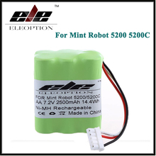Eleoption New 7.2V 2500mAh Ni-MH Vacuum Battery For Mint Robot 5200 5200C Floor Cleaner US(China)