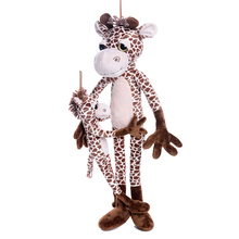 Plush Simulation Giraffe Toys Stuffed Animal Deer Cute Elk Dolls Christmas Gifts for Kids Girls Boys Collection Decoration 15""