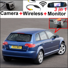 LiisLee WiFi Wireless CCD Camera & Mirror Monitor Easy DIY Parking SYSTEM Set For Audi A4 / S4 / RS4 2001~2008