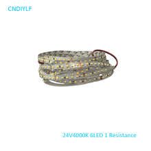 Fast Shipping Via Regisitered Air Mail LED Light Strip 24V 5m 4000K 70W 2835 SMD LED No Waterproof 5m/Package(China)