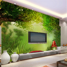 beibehang Personalized custom wallpaper 3d fantasy fairy tale forest sofa living room bedroom TV background