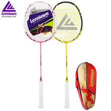 High Quality Carbon Badminton Racket Lenwave Brand Both Offensive And Defensive Racquet Sports Training Fitness Equipment(China)