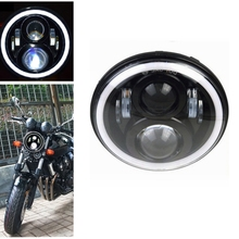 "Newest 7 inch Round LED Motorcycle Head Light 7""Led Headlight Lamp For Honda CB400 CB500"