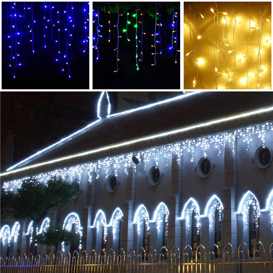 LED Curtain Icicle String Fairy Light 3-24M LED Christmas Garland Indoor Outdoor Party Garden Stage Decorative Lights 110V 220V (33)