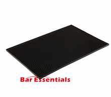 Rectangle Rubber Beer Bar Service Spill Mat for table black waterproof pvc mat kitchen glass coaster placemat