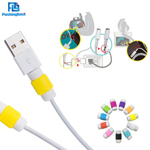 Pushingbest USB Data Cable Line Protector Phone case For Iphone 5 6 android usb cable protective Charging Earphone Accessorie
