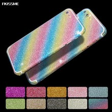 FKISSME Glitter Sticker Bling Diamond Full Body Protector Front Back Cover Sparkly Film Decal For iPhone 7 Plus 6 6S Plus 5S SE(China)