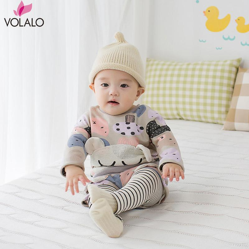 Newborn Sets Baby Boy Girls cartoon cat clothing set Children Outwear pullover long sleeve + Pants 2pcs Sports Suit Kids Outfits<br><br>Aliexpress