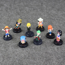 8pcs/lot 5cm Anime One Piece Mini Action Figures The Straw Hats Luffy Roronoa Zoro Sanji Chopper Figure Toys