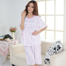Summer Women's thin cotton short-sleeve knitted sleepwear xxl xxxl plus size  lounge homewear free shipping