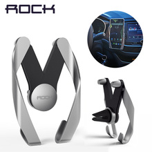 Rock Car Mobile Phone Holder Air Vent Mount Stand Adjustable GPS Bracket Holder For iPhone 8 7 6S Plus 5s For Samsung S8 Note 8(China)
