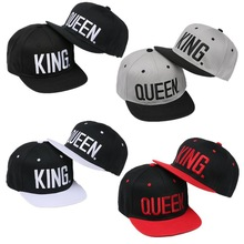Snapback Hat King-Queen Baseball-Cap Sport-Caps Embroidery Fashion Women 4-Color Couple