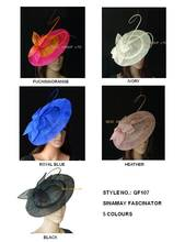 NEW FREE SHIPPING BY EMS.BIG saucer Sinamay Fascinator Hat for wedding.,kentucky derby,Melbourne cup,Ascot Races,Party.8pcs/lot.