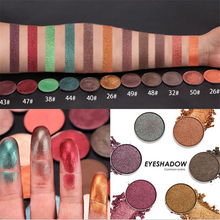 New Fashion Single Color Eye Shadow Minerals Waterproof Pigments Pumpkin Glitter Shimmer Eyeshadow Autumn Winter 18-47Colors(China)