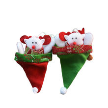 3pcs/lot Christmas Decoration Santa Doll Pendant Christmas Tree Hanging Ornaments Children Gift Bags Holder for Home Decor SD210